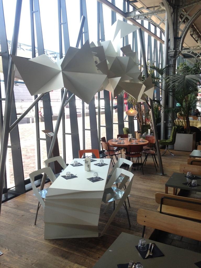 canopy 0.1 set de jardin origami acier
